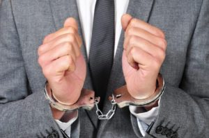 Man wearing handcuffs