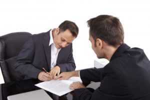 Attorney performing consultation
