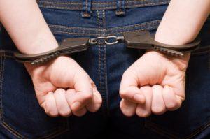Male in handcuffs