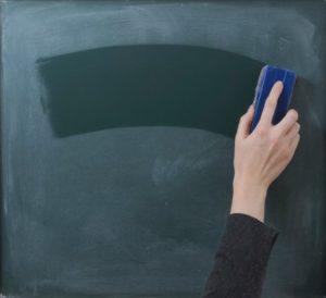 Eraser clearing a blackboard
