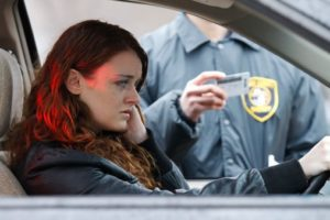 Woman stopped for DUI