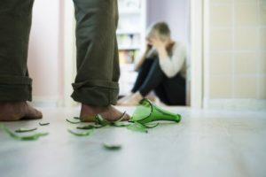 woman afraid of domestic violence