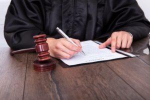 Judge signing order