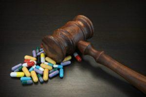 Gavel and prescription drugs