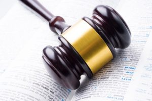 Gavel with dictionary